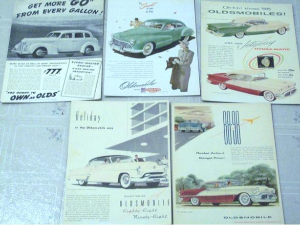 ANTIQUE OLDSMOBILE CAR ADS