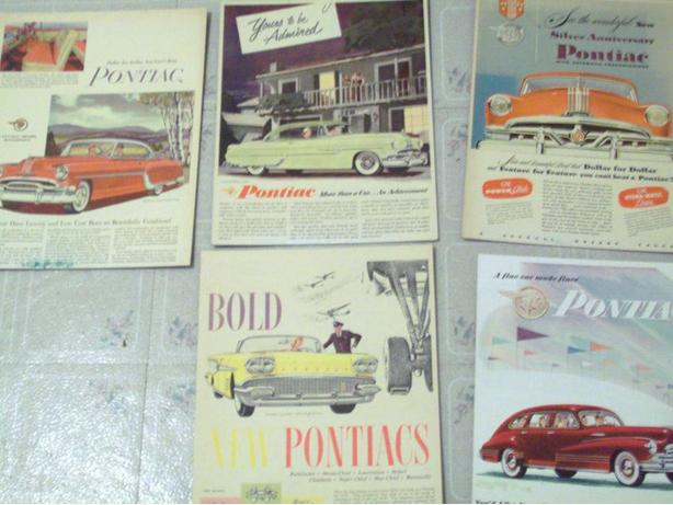 ANTIQUE PONTIAC CAR ADS