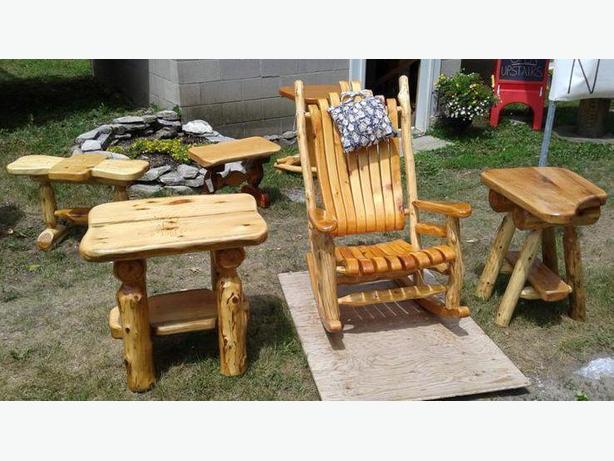 rustic furniture ottawa. rustic rocking chair by les spurrell furniture ottawa