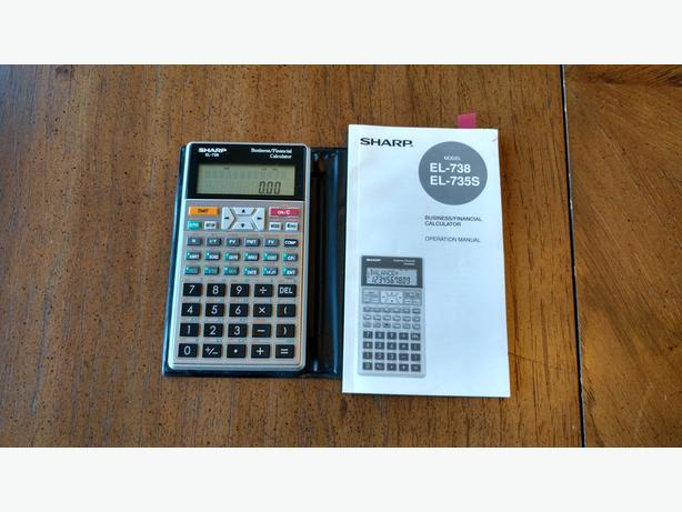 sharp el738 business financial calculator with manual central ottawa rh usedottawa com