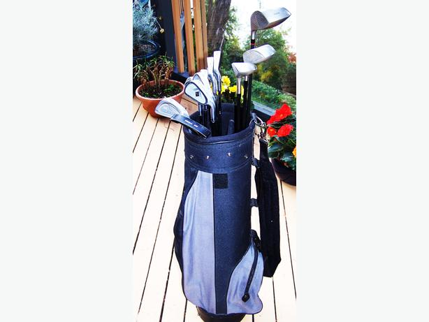 MENS RT HAND GRAPHITE STAINLESS GOLF FULL SET INC BAG