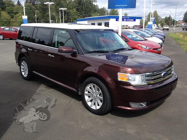 burgundy 2009 ford flex sel awd courtenay courtenay comox. Black Bedroom Furniture Sets. Home Design Ideas