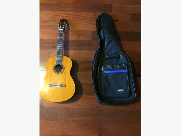 3/4 size guitar with soft case