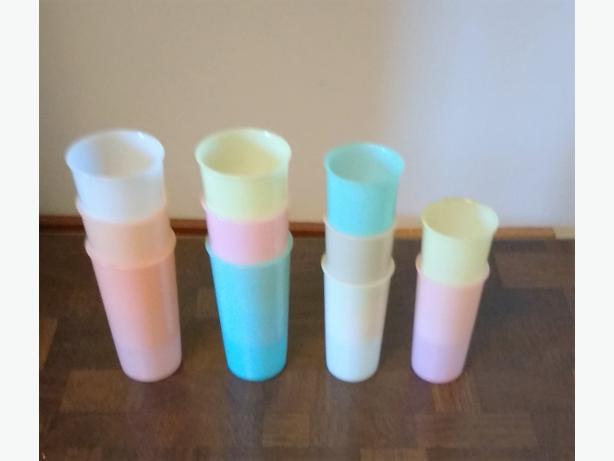 LOT OF TUPPERWARE GLASSES