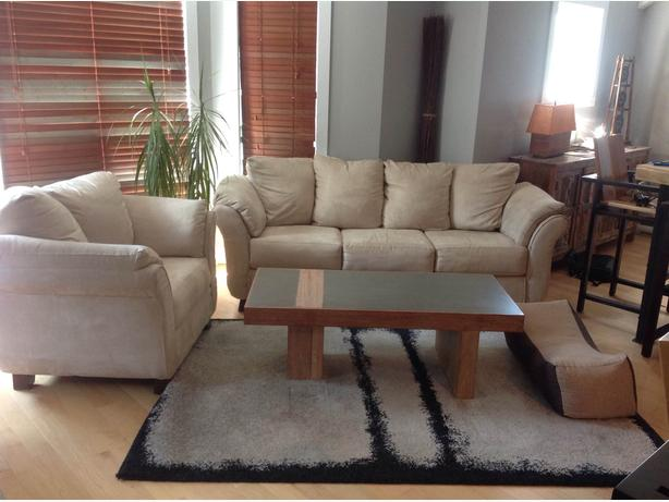 Reduced price - 2 beige sofas (3 seats + 1 seat)