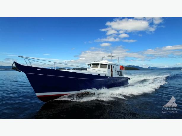 68 2014 Aluminum Hull Pilothouse with GYRO Yacht Sidney BC