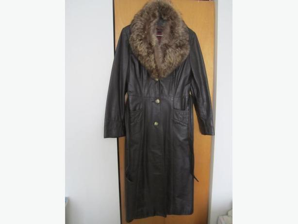 Jolie manteau long de cuir d'hiver élégante pour femme Aubaine!!