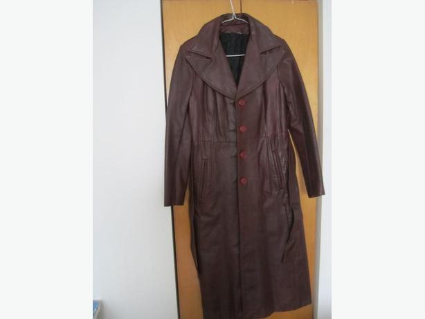 AUBAINE/BARGAIN!!! Jolie manteau long de cuir d'hiver élégante p