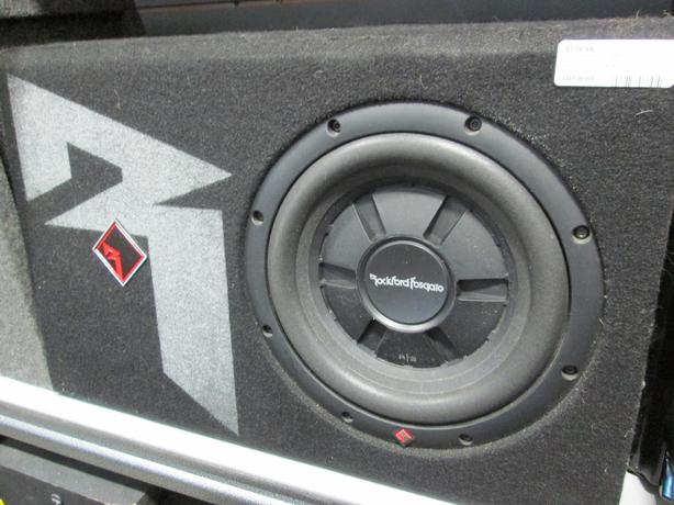 "ROCKFORD 10"" SUB IN FACTORY TRUCK BOX **MONEYMAXX**"
