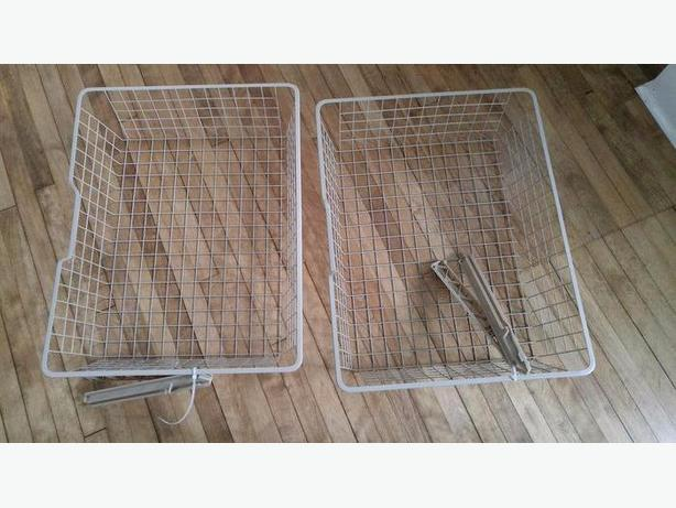 NEW IKEA KOMPLEMENT Wire basket with pull-out rail 75x58x16 cm