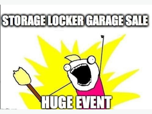 storage locker garage sale
