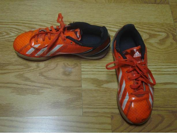 Like New Pair of Adidas Orange Runners Size 3 Youth - $5