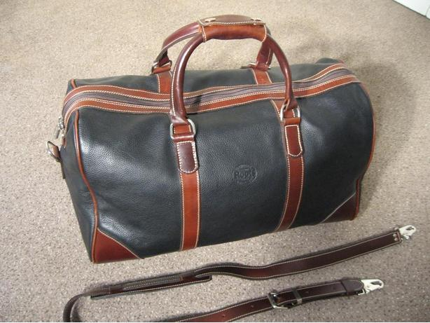 (NEW) - ROOTS Leather Overnight Bag and a Leather Computer/Briefcase