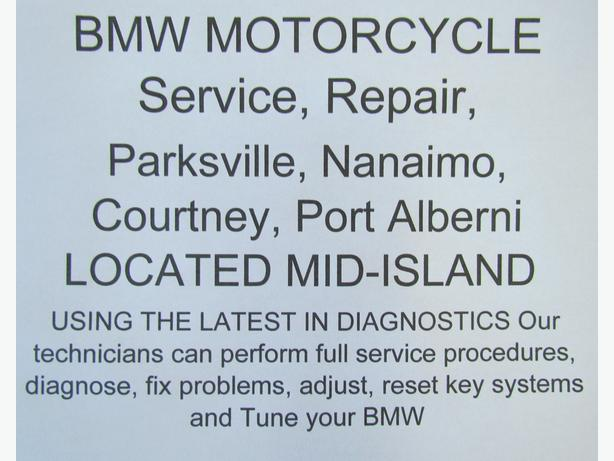 BMW MOTORCYCLE Service, Repair, Parksville, Nanaimo, Courtney, Port Alberni