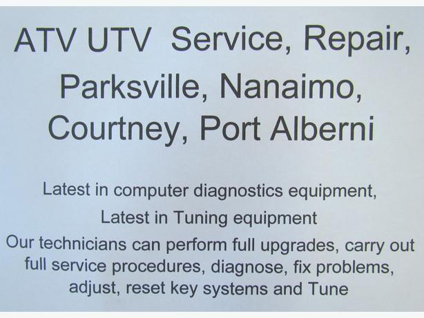 ATV UTV Service, Repair, Parksville, Nanaimo, Courtney, Port Alberni