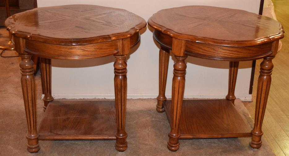 Mint condition solid oak matching coffee table two end table west regina regina mobile Matching coffee table and end tables