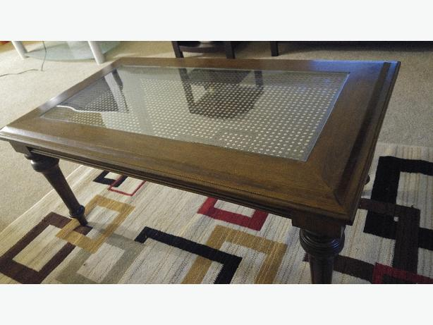 Numbered Bombay Company Coffee Table And Two End Tables Saanich Victoria