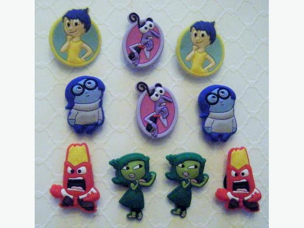 Inside Out Shoe Charms for Crocs or Magnets