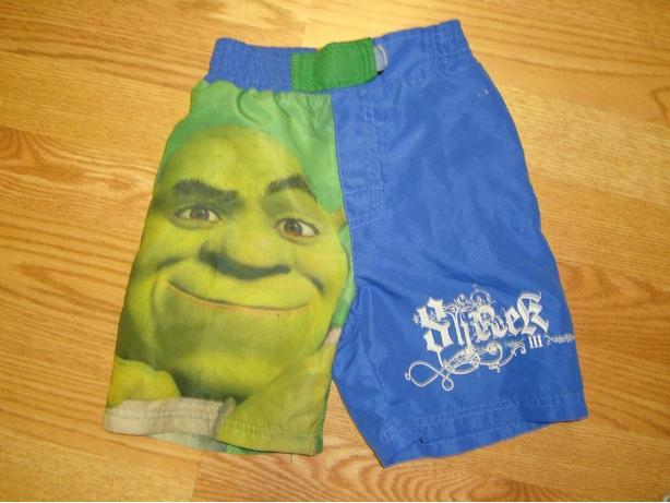 Like New Shrek Swim Shorts Size 4 Toddler - $6