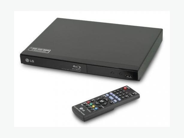 LG Blu-ray and DVD movie player