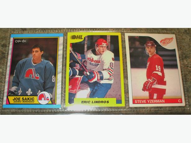 Hockey Hall of Fame-Yzerman,Lindros,Sakic- 3 card package $30.