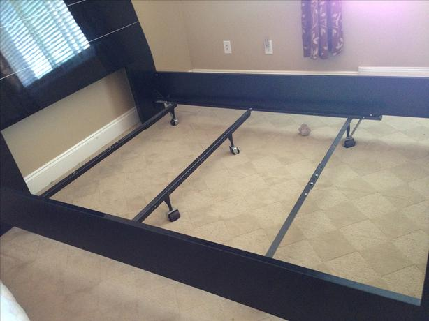 italian queen bed frame with free metal stand without