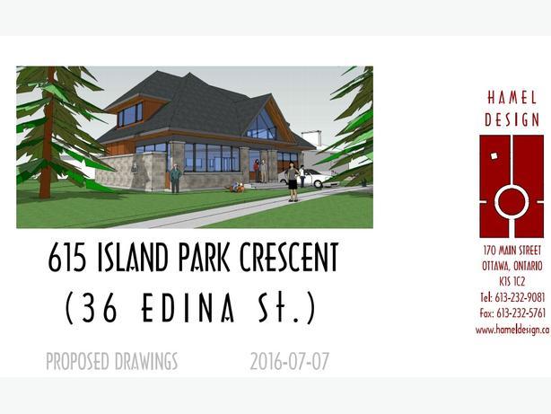 Build your dream home for spring! 4400 sqft lot 615 Island Park Crescent