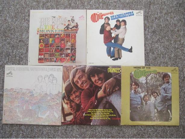 FIVE The Monkees LPs