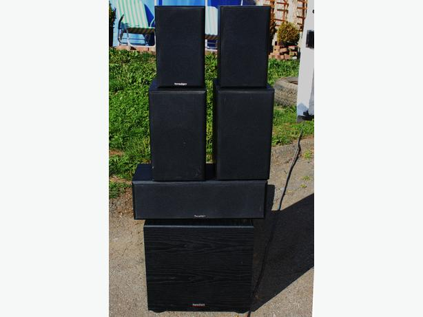 PARADIGM 6 PC SPEAKER SET, INC SUB AND CENTER CHANNEL