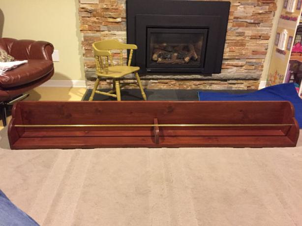 Custom made bar rail