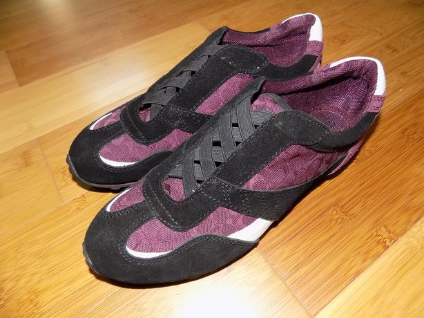 New COACH SIGNATURE Shoes/Sneakers RAFAELLA MERLOT Suede