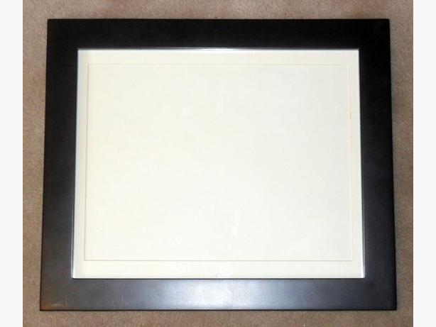 Sturdy Stained Black Wooden Photo Frame with Glass Front