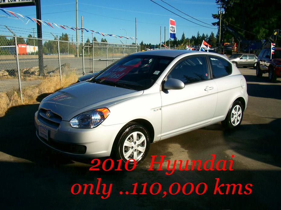2010 Hyundai Accent 2 Door H Back Only 110 000 Kms