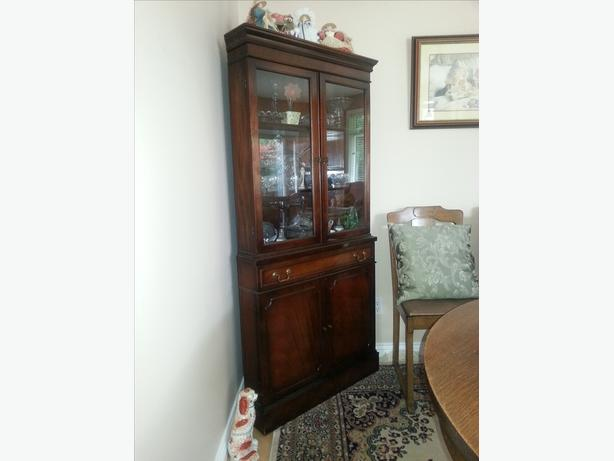 Mahogany Corner China Cabinet - SOLD