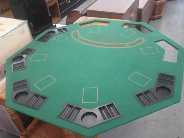 Folding Black Jack Table Top Board