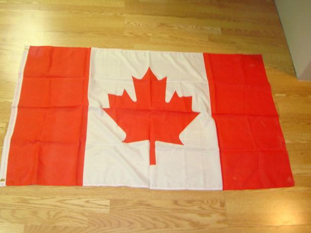 Like New Large Canadian Flag Fabric - $10