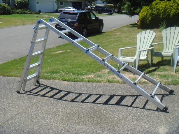 21 multi-task ladder mastercraft how to turn into 2 a-frames