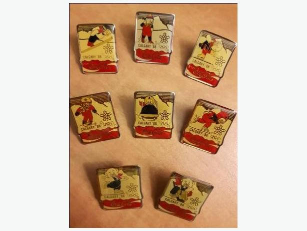1988 Olympic Coca Cola Collector Pins (8) plus others