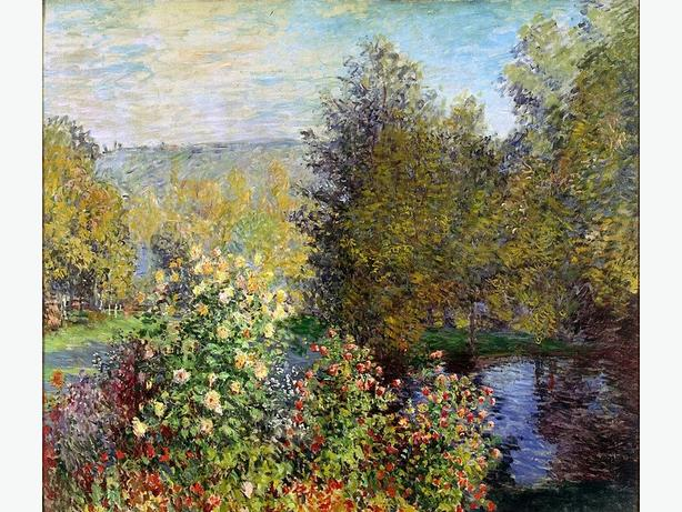 "New Print A Corner of the Garden at Montgeron by Monet 40"" X 40"""