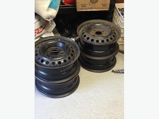 "4x15"" steel rims"