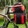 Bicycle Rear Rack Double Pannier Bag w/ Rain Cover - 70L - Red