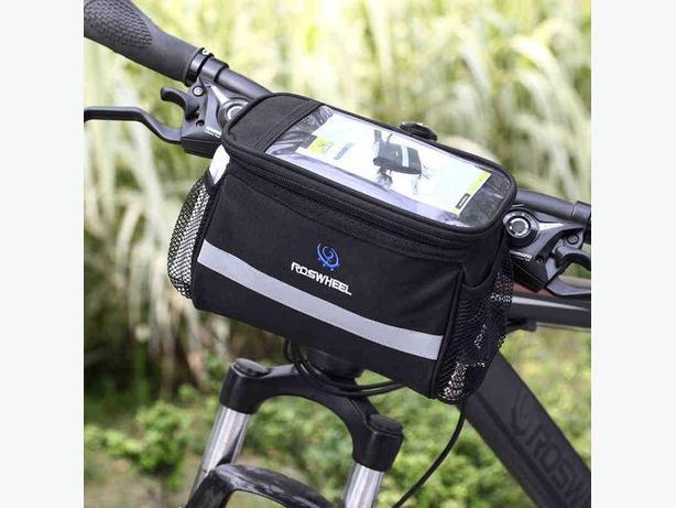 Bicycle Bike Front Handlebar Pouch Bag - 3.5L - Black