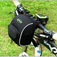 Bicycle Bike Front Handlebar Pouch Bag with Rain Cover - Black