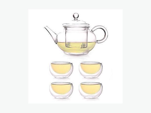 Small Glass Teapot Infuser Set