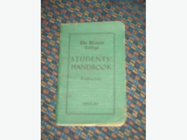 1936-37 VICTORIA COLLEGE STUDENT HANDBOOK
