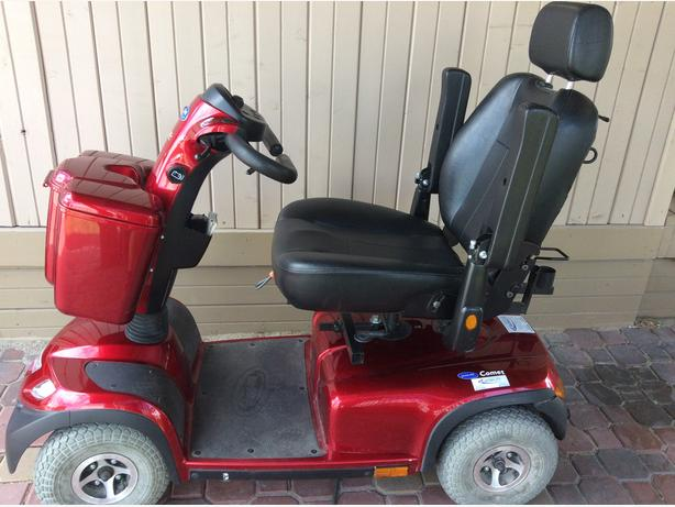 Red 4 wheel Scooter
