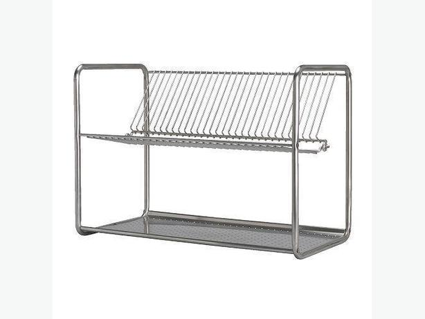 Ikea ORDNING Dish Drainer Rack - Stainless Steel