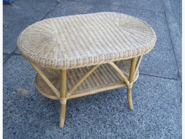 Oval Wicker Coffee Table