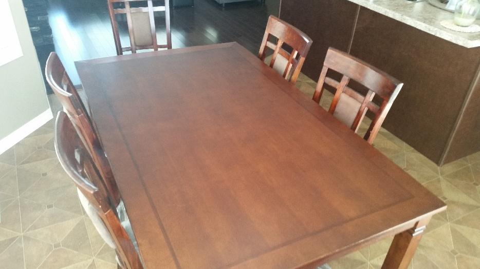 7 pc wood dinning table and chairs east regina regina for 7 summerland terrace