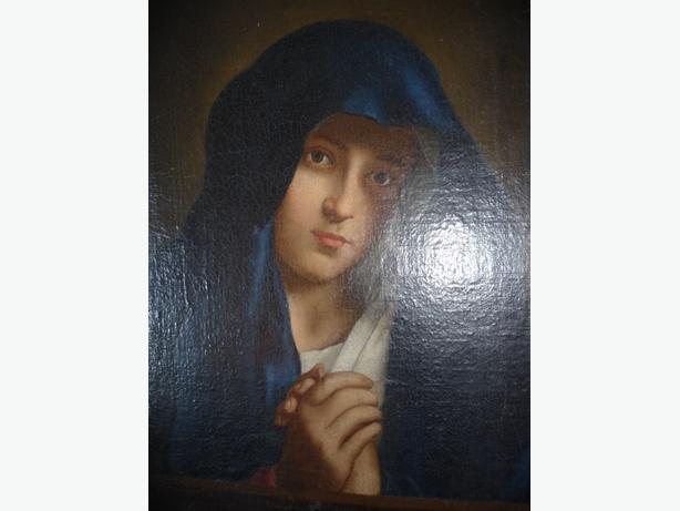 MADONNA IN SORROW - SIGNED OIL PAINTING - DATED 1909